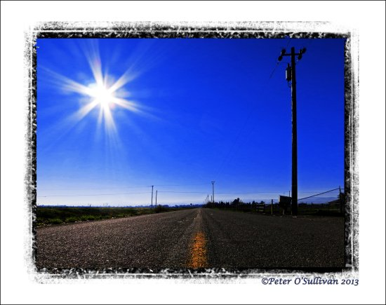Tracey California USA Road Sun