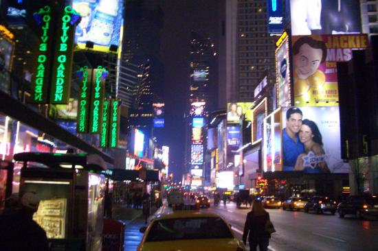 Times Square late-night lights