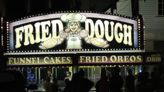 food stand fried dough oreo fair people night