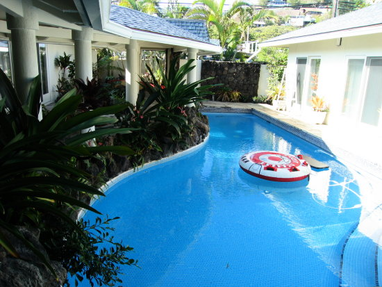 pool of my friends house in Hawaii