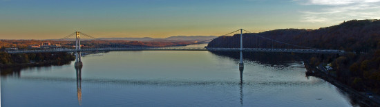 hudsonriver bridge river water landscape