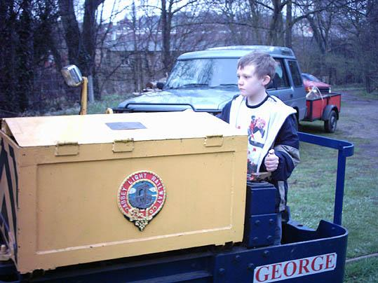 Thats me driving an electric train at Kirkstall Abbey. I drove it by myself.