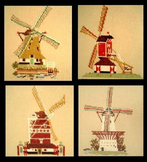Dutch Decoetion Needlepoint Windmills Series Millclub
