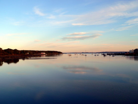 sunset maine reflections sea