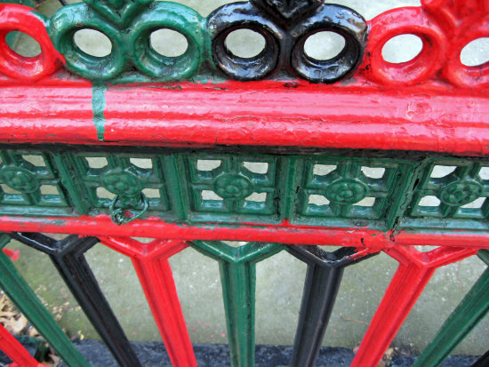 painted rod iron fence