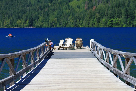 lake crescent summer jetty