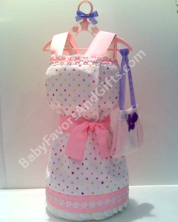 dress diaper cake cakes new baby girl gifts shower gift ideas diapercake
