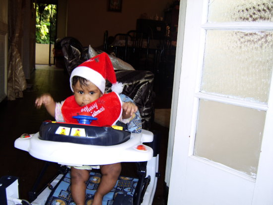 merrychristmas christmas first ashlee 5months hat 2005