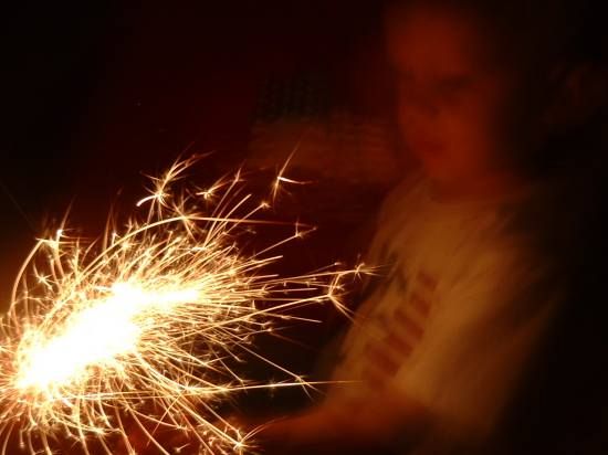 sparkler fireworks party