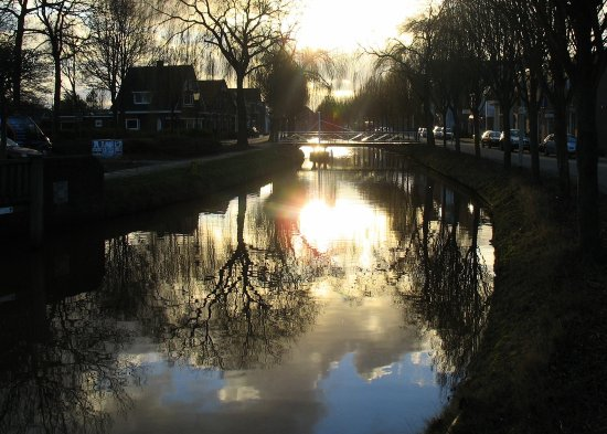 oudepekela holland sunset canal canalclub
