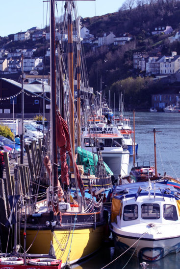 harbour looe vessels boats yachts river estuary