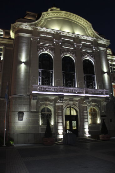 me plovdiv my home town centre building archiecture night petzka lights