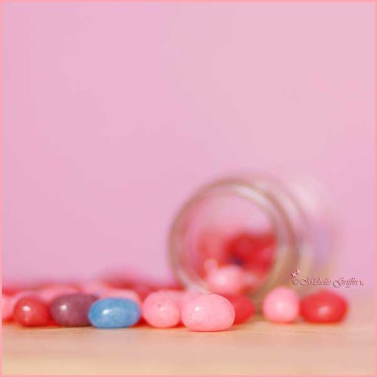 sweets jellybeans pink