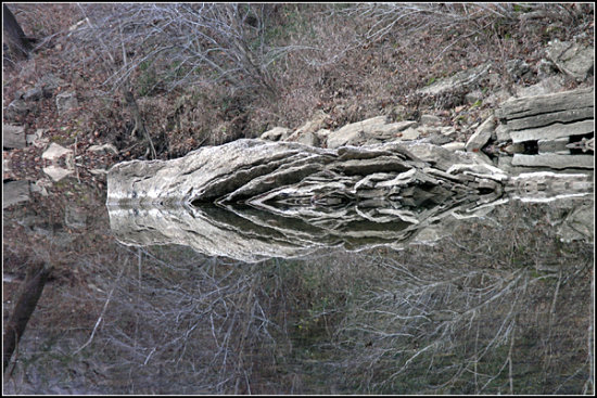 reflectionthursday buffalonationalriver pruittlanding rock