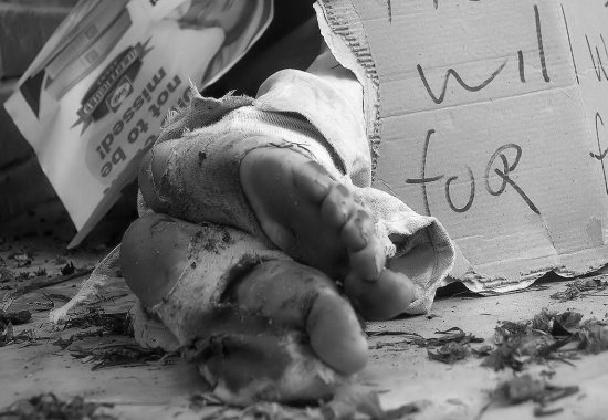 homeless feet natural lightbwpeople