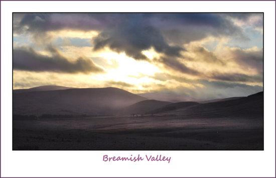 valley sunset national park breamish mauve magenta sky dramatic