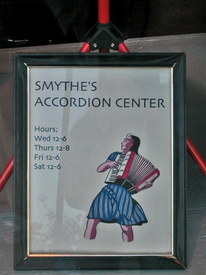 accordion shop window sign signfph music reflections reflectionthursday