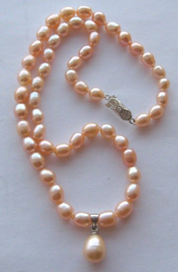 Pink pearl necklace crimeajewel _commercial