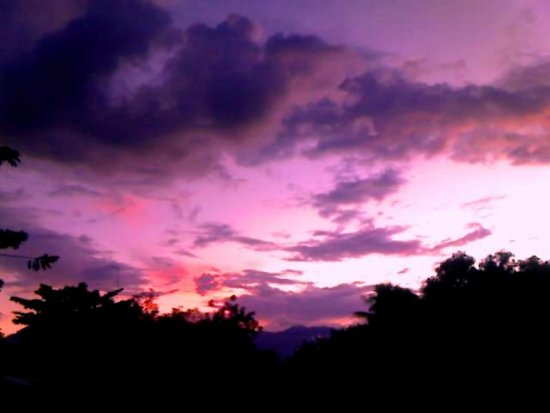 clouds sky sunset by motorola phone