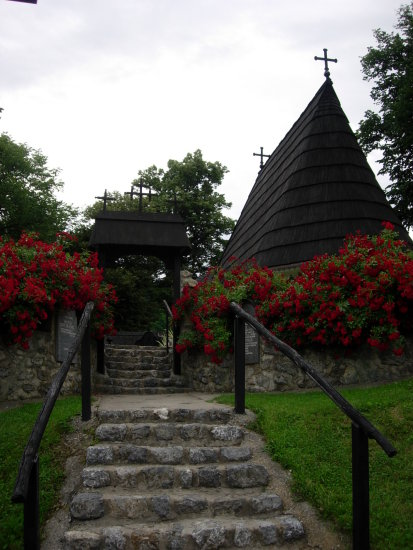 Serbia Krupanj etno village church