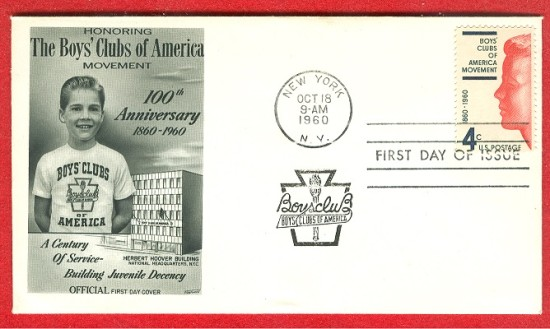 Boys Clubs of America stamps