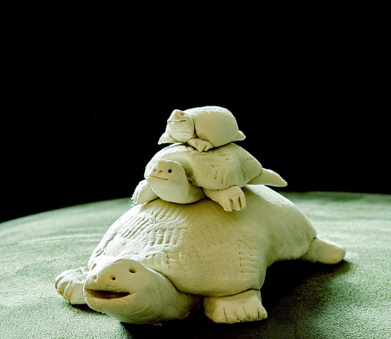 art clay turtles white
