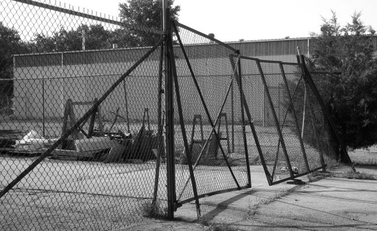 industry chainlink fence blackwhite bw