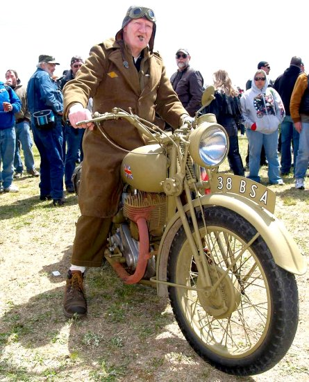 hippy chick soho 1938 bsa cool old warrior