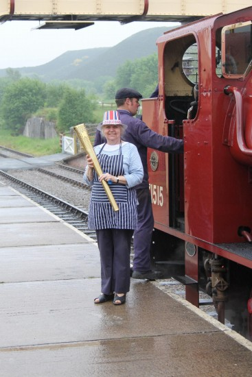 wales blaenafon railways trains objects landscape people olympictorch