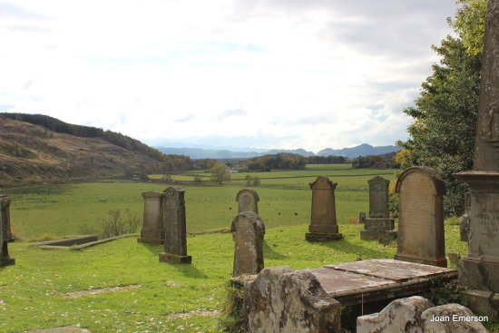 The graveyard at the standing stones Scotland