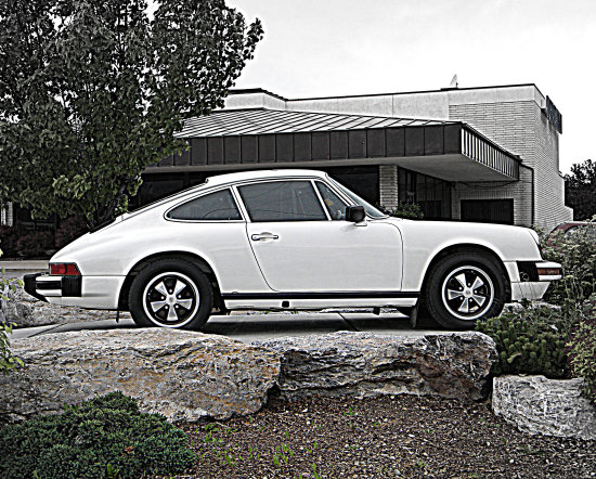 Porsche 911 White Car Auto German