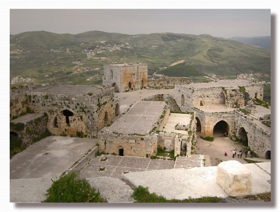 syria krak architecture castle view syrix krakx archs casts views
