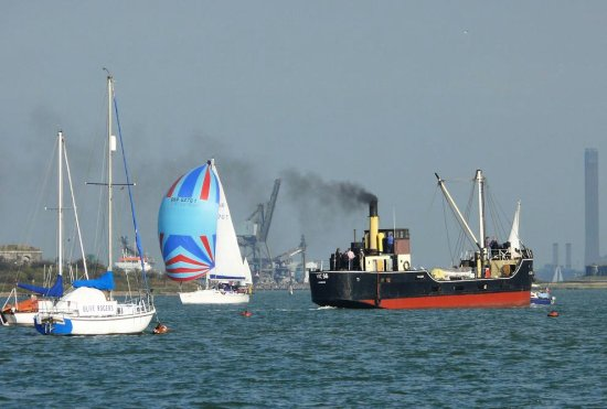 This afternoon on the river (2) .. including the old tramp steamer..