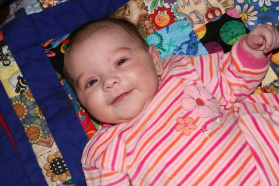 Rylee at her best! Just before Shower time - got some good smiles tonight!