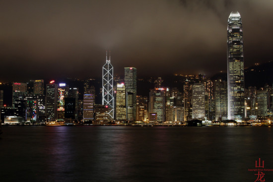 HongKong Night Lights Central Kowloon