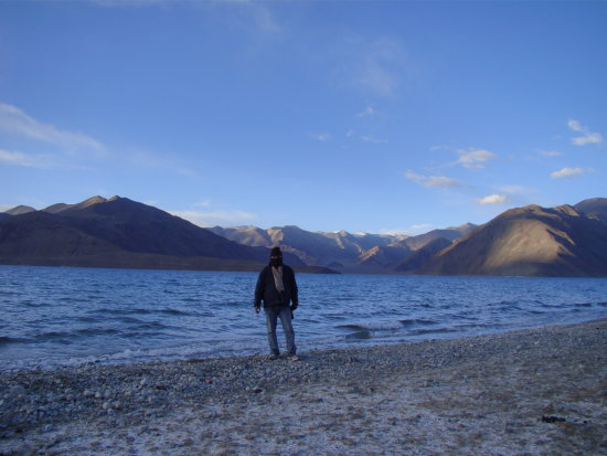 Me and Pangong Lake