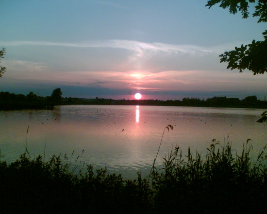 Sunset, (taken with my phone-camera)