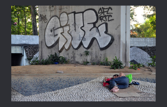 kuala lumpur,  if you have to be homeless it is not the worst place, because it is warm