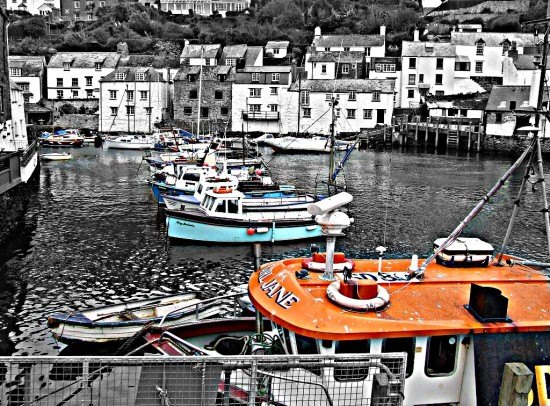 Polperro Cornwall hdr Fishing Fleet 2011rob
