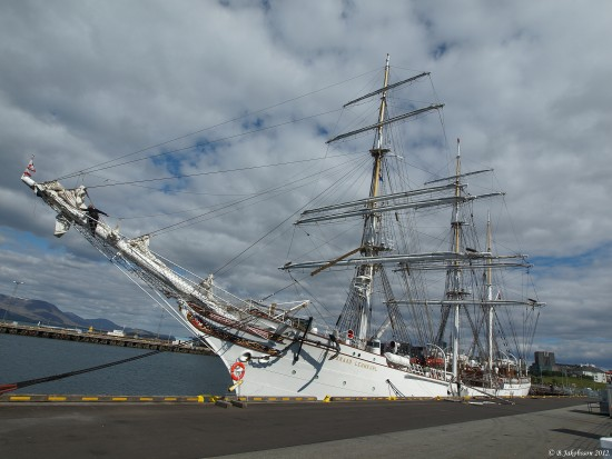 e620 summer sea clouds ship Statsraad Lehmkuhl reykjavik Iceland