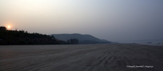 sunrise karde beach konkan maharashtra coast india