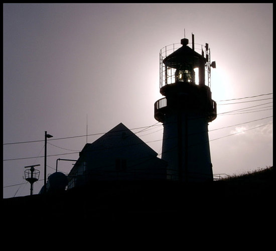 lighthouse contrast light building outline backlight