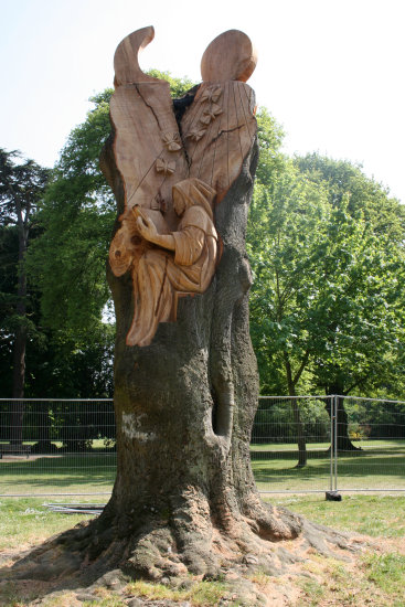 Pershore tree sculpture art England