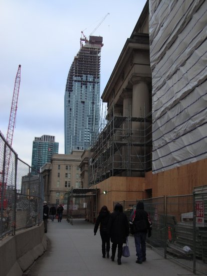 At 4:23pm-2nd Photo-On Front St.,Union Station-Toronto,Ontario-On Saturday,mar.2,2013