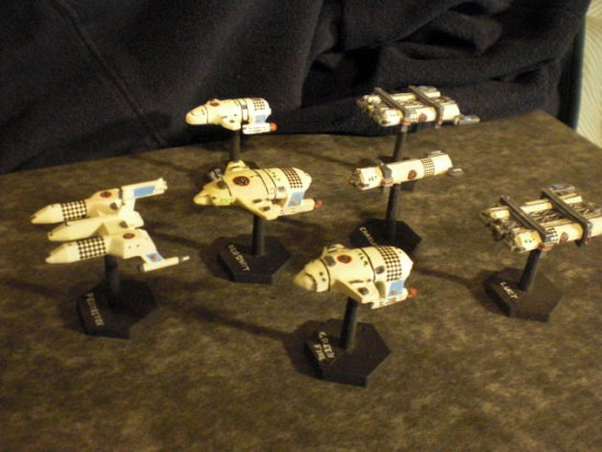 Science fiction miniature model starships