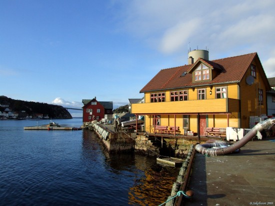Landscape Bomlo Norway Houses Seaside