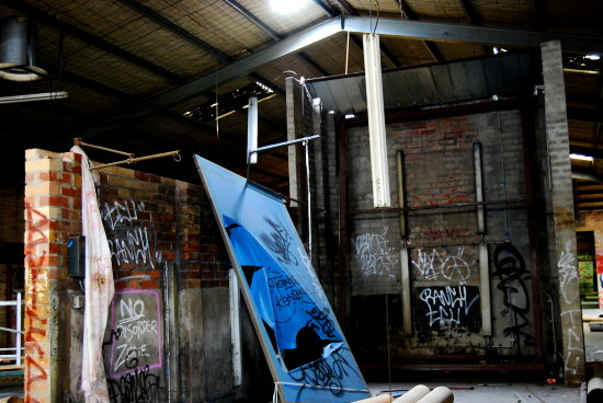 abandoned melbourne warehouse graffiti