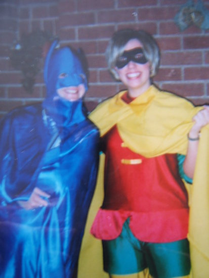 Me and mate as Batman and Robin