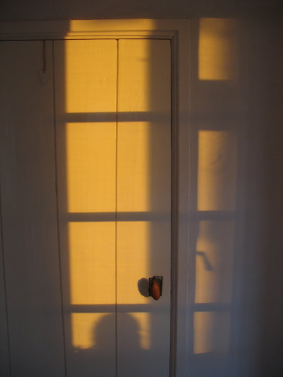 sunset light shadow door
