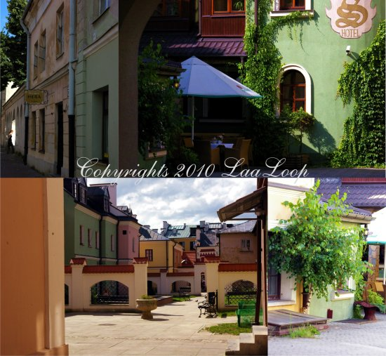 Zamosc Poland backyards lane